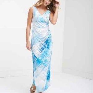 Tommy Bahama blue maxi dress size medium